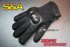 【翔準軍品AOG】(三角)可觸屏 防割耐火真皮毛 全指手套(黑)軍規 戰術 健身 射擊 騎車(3010)SNA7C