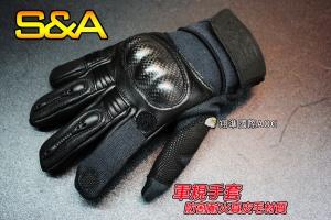 【翔準軍品AOG】(骷髏)全指手套(黑)食指可變半指 戰術可觸屏 防割耐火真皮毛(1818)SNA7DA