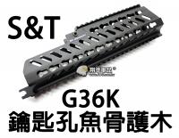 【翔準軍品AOG】【S&T】G36K 魚骨 金屬 鑰匙孔 護木 生存遊戲 零件 周邊套件 DA-STRAS02