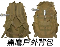 【翔準軍品AOG】來福 後背包 黑鷹 雙肩包 登山包 旅行包 運動 戶外 露營 軍規 反光 特戰背包 P0409GH