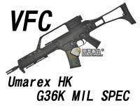 【翔準軍品AOG】【VFC】Umarex HK G36K MIL SPEC 黑色 瓦斯槍  免運費  衝鋒槍 VF2-LG36K-BK01