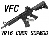 【翔準軍品AOG】【VFC】VR16 CQBR SOPMOD 電動槍  免運費 VF1-M4_SMD_S-BK01