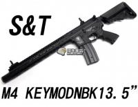 【翔準軍品AOG】【S&T】M4 Keymod NBK 13.5吋 黑 電動槍 生存遊戲 魚骨 槍托 UFC AEG DA-ST-AEG