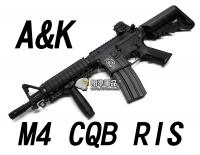 【翔準軍品AOG】【A&K】M4 CQB RIS 電動槍 護木 握把 室內戰 短管 生存遊戲 金屬 魚骨 卡賓槍 DA-GY-M4CQB