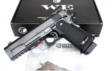 【翔準軍品AOG】WE 5.2R版 黑色 瓦斯槍 手槍 戰術軌 寬軌 攻擊頭 D-02-48