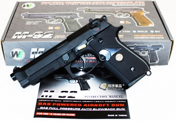 【翔準軍品AOG】WE M9A1 黑色 瓦斯槍 手槍 戰術 寬軌 全金屬 海豹隊員專用 D-02-19-4B