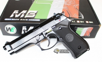 【翔準軍品AOG】WE M9 新款  黑色 瓦斯槍 手槍 全金屬  無軌  D-02-18-2