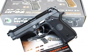 【翔準軍品AOG】WE M9  黑色 瓦斯槍 手槍 全金屬  無軌 特價款  D-02-19