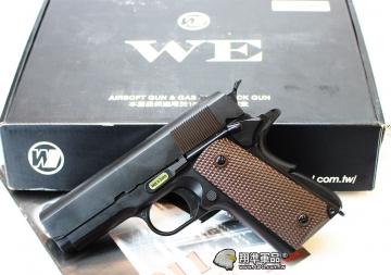 【翔準軍品AOG】WE 小M1911A 瓦斯槍 手槍 全金屬 單匣 黑色 D-02-65