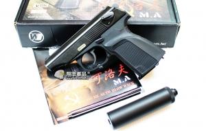 【翔準軍品AOG】WE 馬可洛夫 滅音管 黑色  手槍 瓦斯槍 BB槍 有後座力 全金屬 D-02-21A