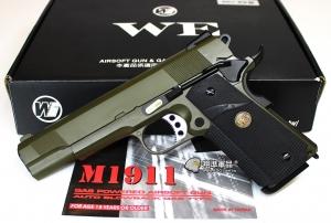 【翔準軍品AOG】WE 1911 MEU 軍綠 全金屬 瓦斯槍 手槍  單匣 D-02-21-2A