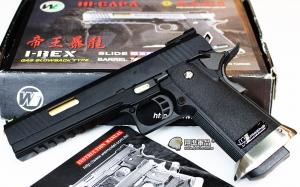 【翔準軍品AOG】WE 6吋 帝王暴龍  無字 黑色 金色槍管 瓦斯槍 手槍 競技版 有後座力 D-02-05BA