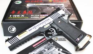 【翔準軍品AOG】[WE]藏文版 6吋銀暴龍+金色槍管 瓦斯手槍 帝王暴龍 GBB槍 D-02-05B