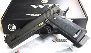 【翔準軍品AOG】 WE  5.1 HI-CAPA 5.1吋龍 全金屬競技精裝版 瓦斯槍 手槍 黑色 後座力 D-02-47