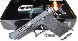 【翔準軍品AOG】WE G35單/連發 原力戰鬥版 黑黑銀 SAI競技  瓦斯槍  D-02-08-3D