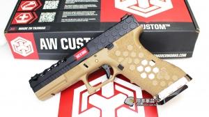 【翔準軍品AOG】AW G17 蜂巢版  G17 六角紋  WE 黑沙 Armorer Works 瓦斯手槍 D-02-08-5B