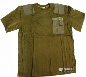 【翔準軍品AOG】RED OCTOBER B款 短袖 棉質 T侐 夏天 軍綠 圓領 叢林 小口袋