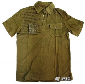 【翔準軍品AOG】 C款  短袖 棉質 短T T侐 夏天 軍綠  叢林 金屬扣
