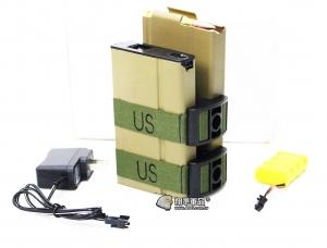 【翔準軍品AOG】M14 電動槍彈鼓 電動槍 附贈:電池充電器 800顆 自動上彈 尼色(KWA WE LCT G&G ) D-10-22AA