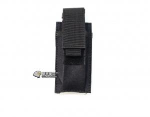 【翔準軍品AOG】黑色 手槍單連 彈匣袋 手槍 彈匣套 生存遊戲 槍帶 槍箱 瓦斯槍 X0-10-7ZA
