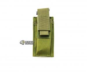 【翔準軍品AOG】綠色 手槍單連 彈匣袋 手槍 彈匣套 生存遊戲 槍帶 槍箱 瓦斯槍 X0-10-7ZB