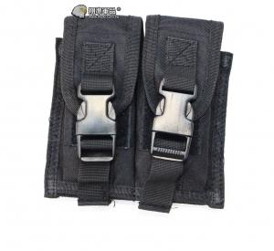 【翔準軍品AOG】黑色 手槍雙連彈匣袋 手槍 彈匣套 掛腰 榴彈包 戰術背心 周邊配件 X0-10-7A