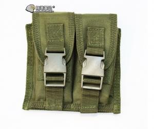 【翔準軍品AOG】軍綠 手槍雙連彈匣袋 手槍 彈匣套 掛腰 榴彈包 戰術背心 周邊配件 X0-10-7D
