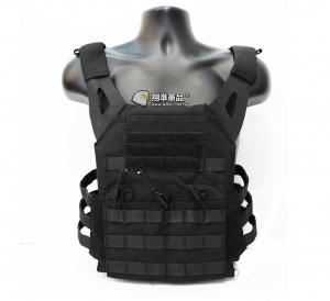 【翔準軍品AOG】JPC 黑色 戰術背心 衝鋒版VE-34  多功能 魔鬼氈 快拆 簡易 隱藏式彈匣袋 G2108-2A
