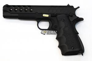 【翔準軍品AOG】WE 1911 蜂巢版+戰術握把 原力 瓦斯槍 GBB 手槍  全金屬  D-02-08-6B