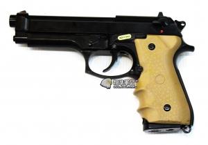 【翔準軍品AOG】WE M9新款+戰術握把  黑色 瓦斯槍 手槍 全金屬  無彈後定  D-02-18-2