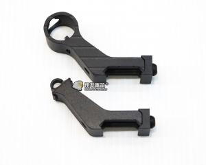 【翔準軍品AOG】黑色 45度 斜邊準心 HM0294 電動槍 瓦斯槍 EBB GBB M4 AK G36 金屬 C0809AND