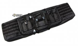 【翔準軍品AOG】*無法超取*120公分 黑色 雙槍包 機槍帶 狙擊槍 瓦斯槍 電動槍 槍箱 周邊配件 P0507ZIO