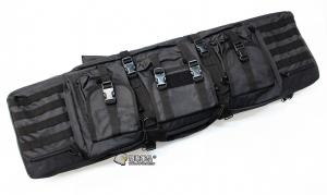 【翔準軍品AOG】*無法超取*107公分 黑色 雙槍包 機槍帶 AK M4 瓦斯槍 電動槍 槍箱 周邊配件 P0507ZH
