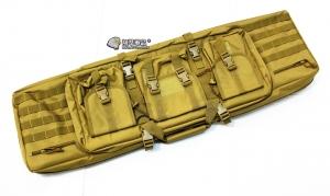 【翔準軍品AOG】*無法超取*107公分 尼色 雙槍包 機槍帶 AK M4 瓦斯槍 電動槍 槍箱 周邊配件 P0507ZK