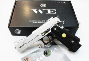 【翔準軍品AOG】WE 5吋龍 銀色 B款 瓦斯槍 5.1 手槍競技版 精裝版 D-02-45
