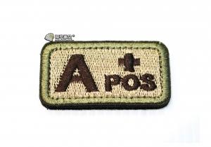 【翔準軍品AOG】A+POS 血型 臂章 徽章 勳章 識別 生存 標誌 休閒 戶外 登山