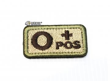 【翔準軍品AOG】O+POS 血型 臂章 徽章 勳章 識別 生存 標誌 休閒 戶外 登山