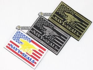 【翔準軍品AOG】海豹部隊 美國 NAVY SEALS 長條款 臂章 徽章 勳章 識別 生存 標誌 休閒 戶外 登山