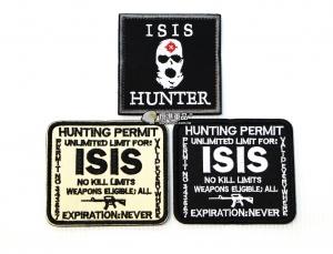 【翔準軍品AOG】ISIS 臂章 徽章 勳章 識別 生存 標誌 休閒 戶外 登山 外套 魔鬼氈