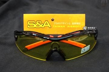 【翔準軍品AOG】S&A 黃色鏡面 防散彈槍-防霧眼鏡 生存遊戲 新款  保護眼睛 護目鏡 E03004-3FC
