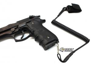【翔準軍品AOG】黑色 手槍專用繩 防掉槍繩 手槍 瓦斯槍 周邊配件 M9 1911