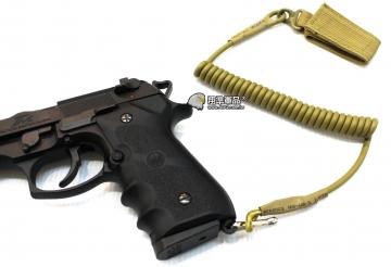 【翔準軍品AOG】尼色 手槍專用繩 防掉槍繩 手槍 瓦斯槍 周邊配件 M9 1911 c0920-2尼色 手槍專用繩 防掉槍繩 手槍