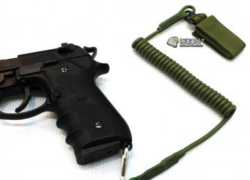 【翔準軍品AOG】軍綠 手槍專用繩 防掉槍繩 手槍 瓦斯槍 周邊配件 M9 1911 C0920-4
