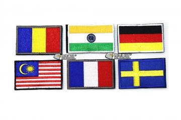 【翔準軍品AOG】國旗 羅馬尼亞 印度 德國 馬來西亞 法國 瑞典 臂章 徽章 勳章 生存遊戲