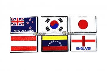 【翔準軍品AOG】國旗 紐西蘭 韓國 日本 奧地利 委內瑞拉波利瓦爾 英格蘭 臂章 徽章 勳章 生存遊戲