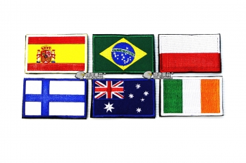 【翔準軍品AOG】國旗 西班牙 巴西 波蘭 芬蘭 澳洲 愛爾蘭 臂章 徽章 勳章 生存遊戲