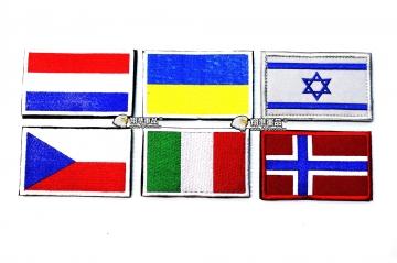 【翔準軍品AOG】國旗 荷蘭 烏克蘭 以色列 捷克 義大利 挪威 臂章 徽章 勳章 生存遊戲