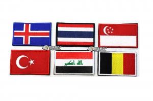 【翔準軍品AOG】國旗 冰島 泰國 新加坡 土耳其 伊拉克 比利時 臂章 徽章 勳章 生存遊戲
