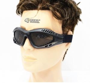【翔準軍品AOG】黑 小眼鏡圓鐵網 護目鏡 安全裝備 面具 透風 護具 戶外 生存 E03005-1