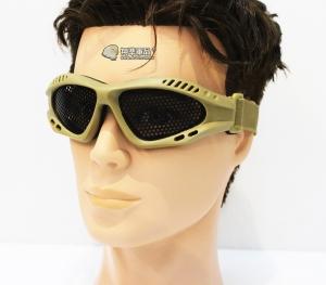 【翔準軍品AOG】沙 小眼鏡圓鐵網 護目鏡 安全裝備 面具 透風 護具 戶外 生存 E03005-3
